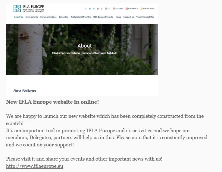 IFLA Europe February 2020 Newsletter